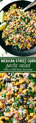 idee de plat simple a cuisiner a delicious mecican corn pasta salad with veggies bacon and