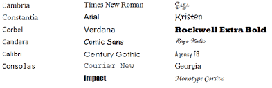 Corbel Bold Perception Of Fonts Perceived Personality Traits And Uses