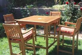 photo of tall patio furniture outdoor decor plan bar height teak