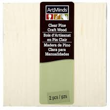 artminds clear pine craft wood 4 5 x 4 5