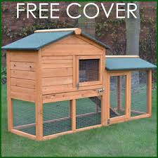 Rabbit Hutch With Run For Sale Rabbit Hutch Guinea Pig Hutches Run Runs Large 2 Tier Double