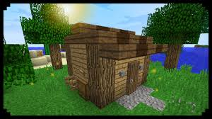 minecraft how to make a tool shed youtube