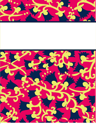 6 best images of lilly binder cover templates cute printable