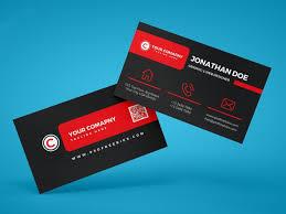 black red business card template free download freebiesjedi