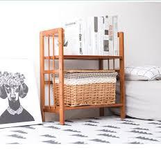 Wooden Student Desk 70cm Long Diy Student Desk Bookcase Bookshelf Bamboo Wood Desktop