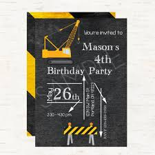 construction theme party blueprint personalized birthday