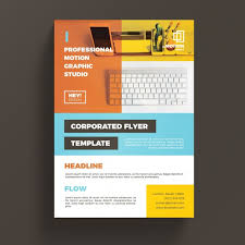 colorful corporate business flyer template psd file free download