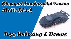 Lamborghini Veneno Matte Black - lamborghini veneno matte black kinsmart diecast cars toys