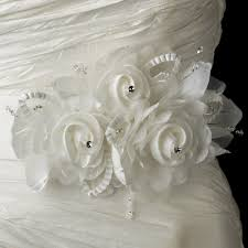 bridal sash organza floral bridal sash and ribbon belt larenna