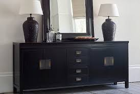 canton black sideboard cabinet with brass handles absolute home