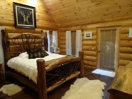 Log Cabin Bedroom Furniture by Full Log Cabin On 11 Wooded Acres Near Fran Vrbo