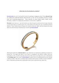 what does the eternity bands symbolize - What Does A Wedding Ring Symbolize