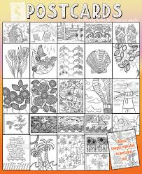 postcards coloring book for adults moms and crafters