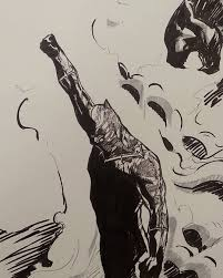 john yandall u2014 black panther con sketch blackpanther marvel