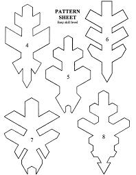 printable paper snowflake templates christmas pinterest