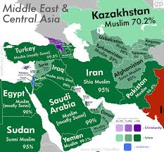 Map Of Central Asia The Most Religious Places In The Middle East And Central Asia And