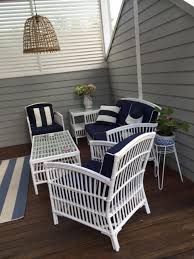 Hamptons Style Outdoor Furniture - south hampton u0027 blue outdoor undercover lounge setting style my home