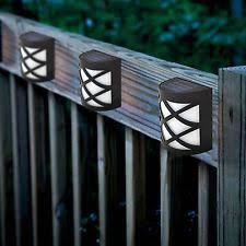 Solar Powered Fence Lights - fence solar lights 4 ebay