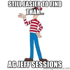 Waldo Meme - still easier to find than ag jeff sessions where s waldo meme
