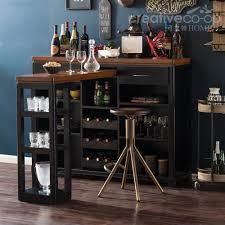 timber bar w extendable desk kitchen island u0026 trolleys
