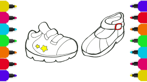 baby shoes drawing for children how to draw shoes coloring