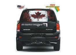 Car Window Flags Canadian Flag Window Film
