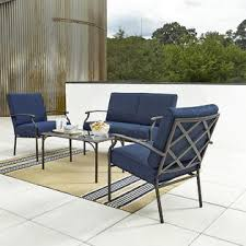 Grand Resort Patio Furniture Grand Resort Fairfax 4pc Seating Set Blue Olefin Outdoor Living