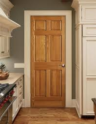 oak doors cream trim love the kitchen color cabinets for