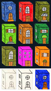 little 3d buildings 3d shapes 3d and drawing projects
