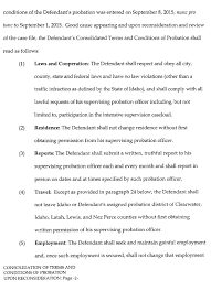Terms And Conditions 5 Consolidation Of Terms U0026 Conditions Of Probation Upon