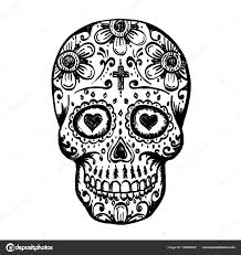 day of the dead skull sketch stock vector hobbit 169899932