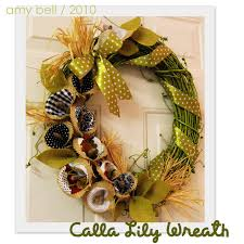 calla lily wreath positively splendid crafts sewing recipes