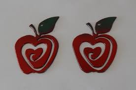 Apple Kitchen Decor by Teachers Gift Set Of 6 Apples Christmas Tree Ornament Metal Art