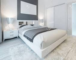 colorful master bedroom bedroom in contemporary style in white and gray colors master