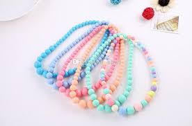 baby beads necklace images Fashion cute children colorful acrylic beads necklace jewelry girl jpg
