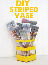 Striped Vase Diy Painted Striped Vase The Graphics Fairy