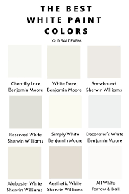 what is the best white color to paint kitchen cabinets the best white paint colors farmhouse style white paint