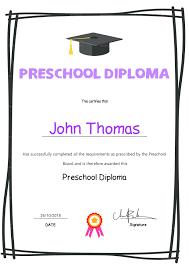 preschool graduation certificate template preschool graduation certificate template diploma