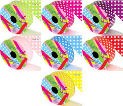 patterned ribbon 2 x polka patterned waterproof poly ribbon rolls you choose the