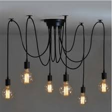6 head industrial vintage edison chandelier pendant ceiling lamp