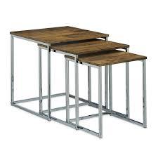 table pour canapé lot de 3 table basse gigogne bout de canapé design moderne bois