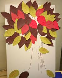 create an autumn tree of resolutions activity education