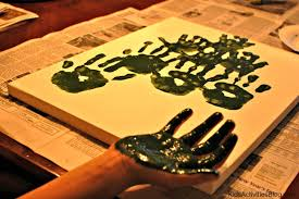 december activities family hand print art