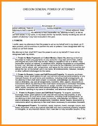 General Power Of Attorney Letter by 10 Power Of Attorney Oregon Form Scholarship Letter