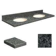 shop transolid blue pearl granite undermount double sink bathroom