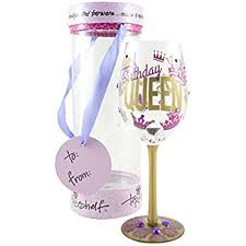 wine glass gifts top shelf birthday decorative wine glass