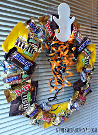 Halloween Wreathes Halloween Project How To Make A Candy Wreath Booitforward Cbias