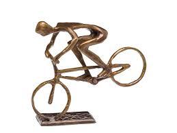Fahrrad Bad Homburg Skulptur Fahrrad Mountainbike Bmx Radsport Antik Stil Bronze Figur