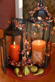 Lantern Decor Ideas Diy Fall Decorations Glass Candle Wooden Tables And Modern