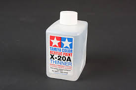 acrylic poly thinner x20a 8 5 oz hobby and model acrylic paint